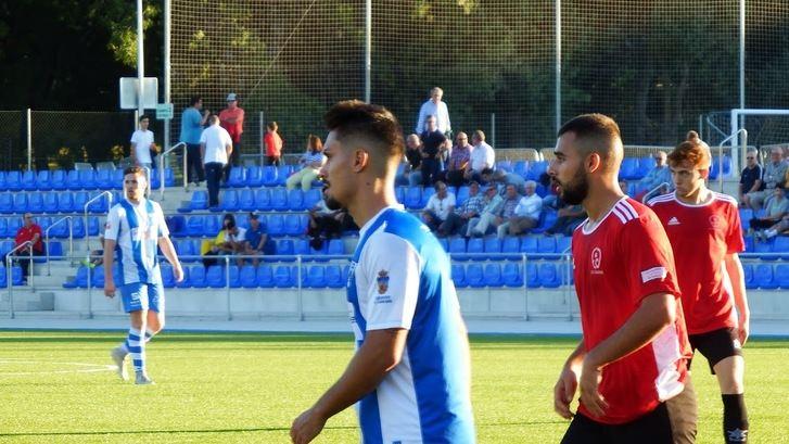 Cristian de la Mata, mejor jugador del partido y autor de los dos goles