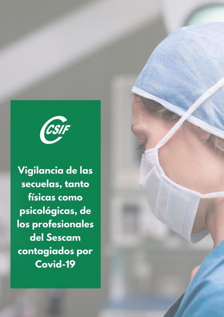 CSIF exige vigilar la salud y las secuelas de los profesionales del Sescam contagiados por Covid-19