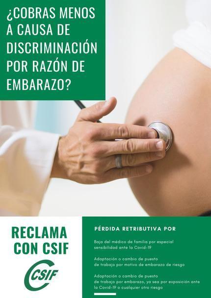 CSIF pone en marcha una campaña para acabar con la discriminación por razón de embarazo en el Sescam