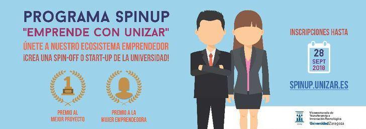 """Convocado el VI Programa SpinUP """"Emprende con Unizar"""""""