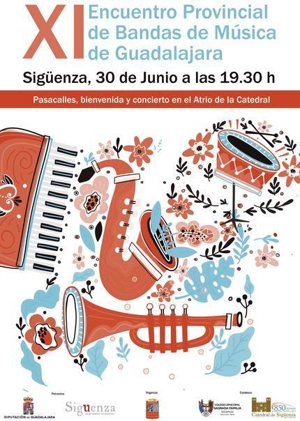 Este domingo en Sigüenza, XI Encuentro Provincial de Bandas de Música de Guadalajara