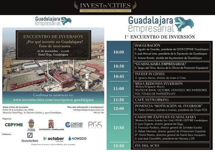 El Encuentro de Inversión de Guadalajara se celebrará el 22 de noviembre