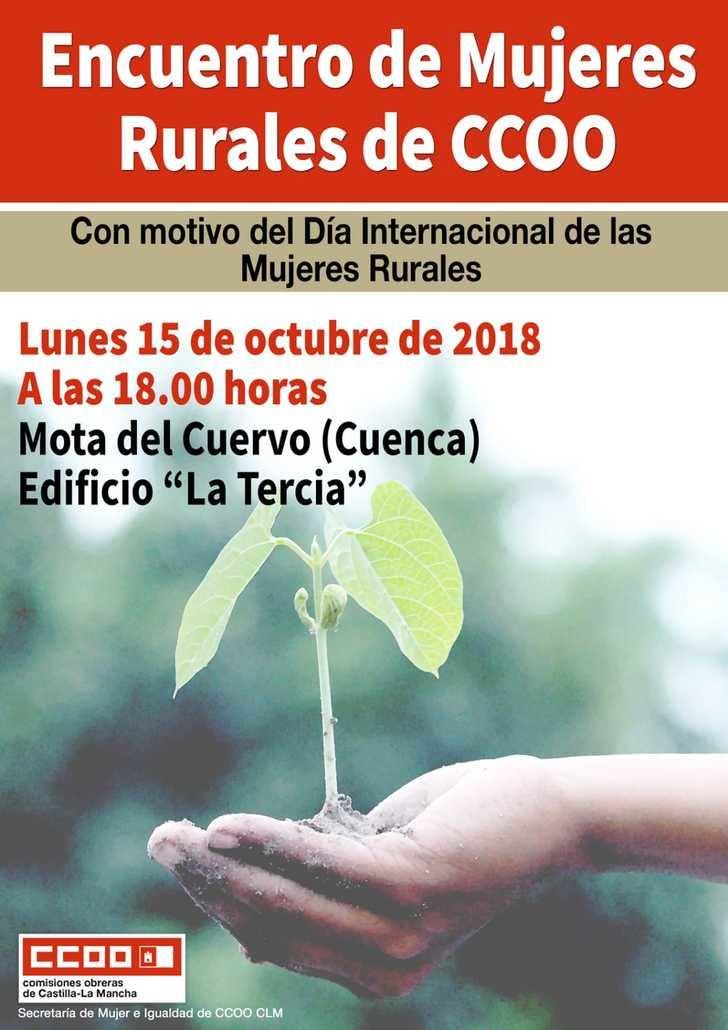 CCOO CLM celebra el lunes en Mota del Cuervo un Encuentro de Mujeres Rurales