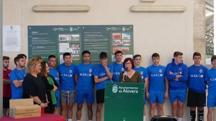 Inaugurada una exposición con motivo del 45 aniversario de la fundación del Club de Fútbol Alovera