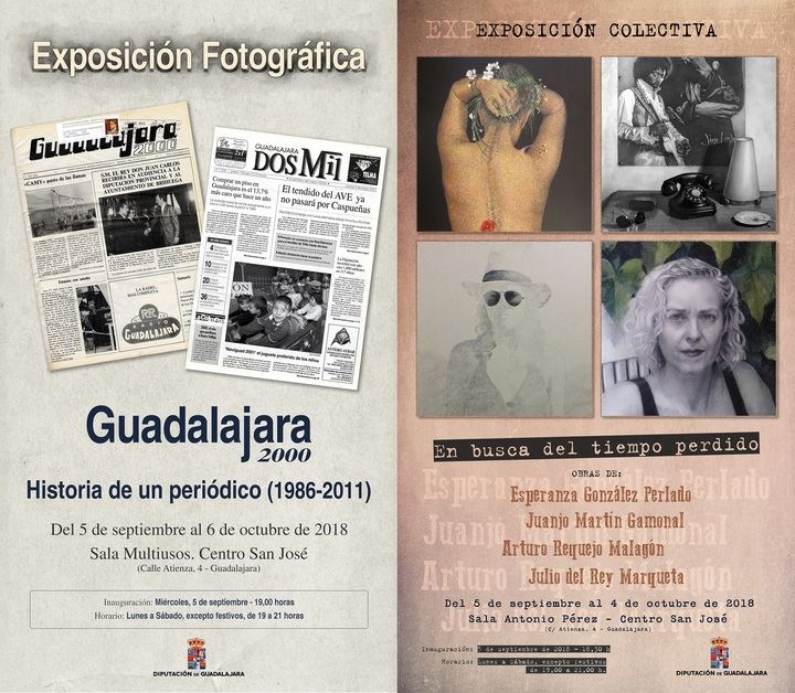 La Diputación de Guadalajara ofrece dos interesantes exposiciones con motivo de las Ferias y Fiestas de la capital