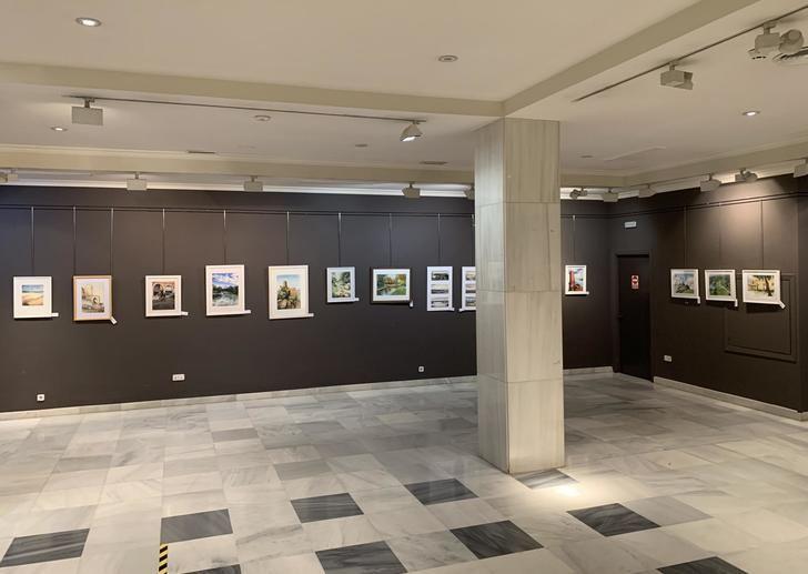 La Sala de Arte ´Antonio Buero Vallejo´ de Guadalajara acoge hasta el 15 de septiembre la exposición de acuarelas ´Paisajes de Guadalajara´