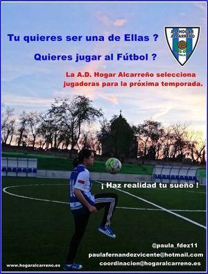 Jornada de pruebas para el equipo femenino del Hogar Alcarreño