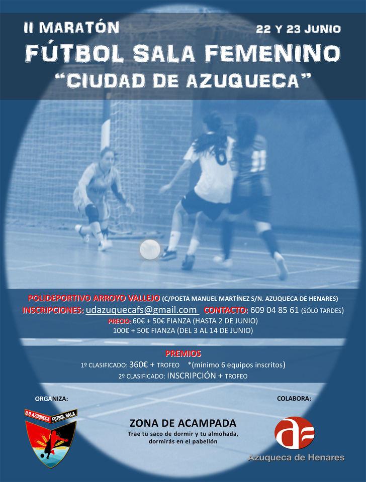 Últimos días de inscripción en el II Maratón de Fútbol Sala Femenino 'Ciudad de Azuqueca'