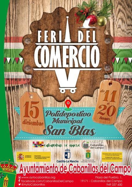 Todo listo para la celebración de la Feria del Comercio 2019 de Cabanillas, este domingo 15 de diciembre