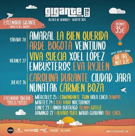 Vuelve el Festival Gigante 2021