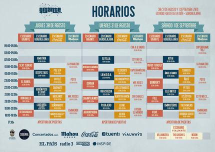 El Festival Gigante presenta en Guadalajara sus horarios para su edición de este año