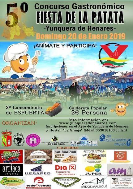 """Yunquera de Henares ultima los preparativos de su 5º Concurso Gastronómico """"Fiesta de la Patata"""""""
