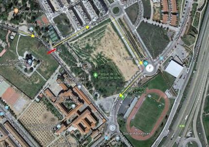 El paseo de Francisco Aritmendi de Guadalajara quedará cortado al tráfico rodado del 6 de febrero al 10 de marzo
