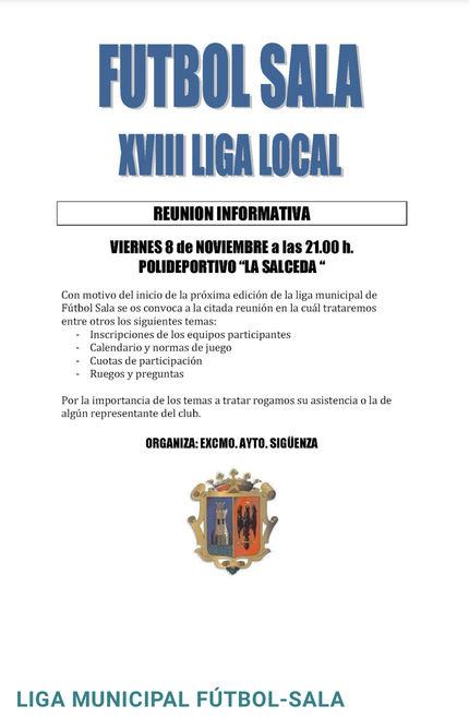 Vuelve a Sigüenza la liga local de Fútbol Sala