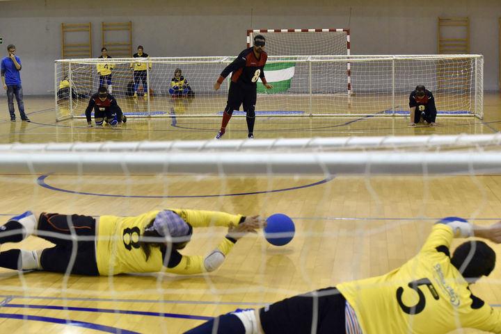 La élite nacional del goalball se da cita en el David Santamaría de Guadalajara