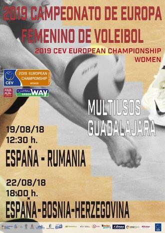El Palacio Multiusos de Guadalajara acoge dos partidos clasificatorios para el Campeonato de Europa Femenino de Voleibol