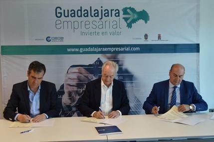 Diputación, Ayuntamiento y CEOE-Cepyme firman el proyecto 'Guadalajara Empresarial'