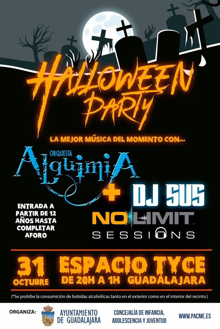 La Concejalía de Juventud organiza una fiesta de Halloween en el espacio Tyce para los menores de la ciudad de Guadalajara
