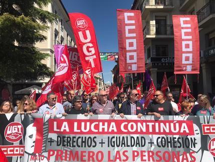 Miles de personas exigen más derechos e igualdad en el Primero de Mayo en Castilla-La Mancha, 2.500 en Guadalajara