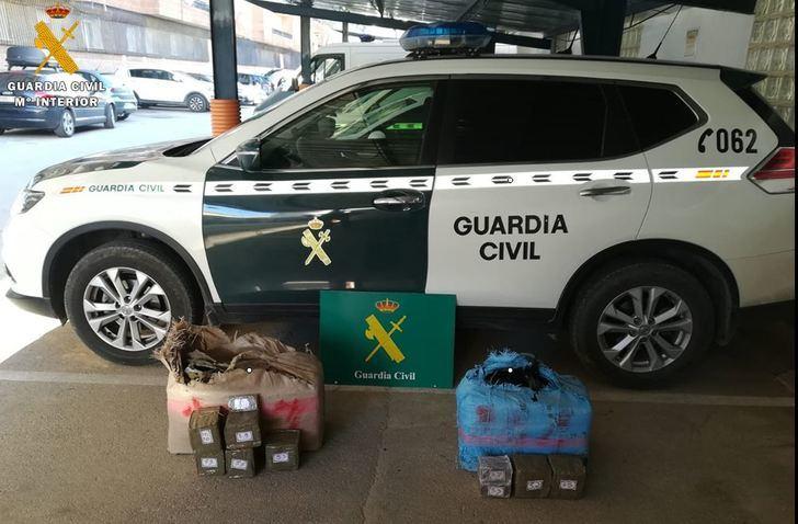 La Guardia Civil ha localizado 67 kilos de hachís abandonados en la autovía A-4