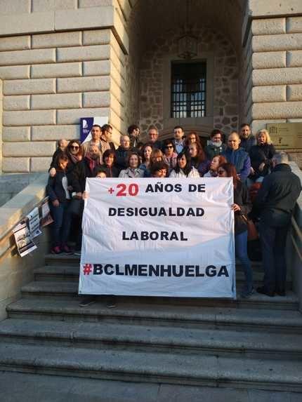 Seguimiento del 100% en la primera jornada de huelga en la Biblioteca de CLM