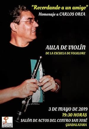 La Escuela de Folklore de la Diputación de Guadalajara rinde homenaje al músico Carlos Orea