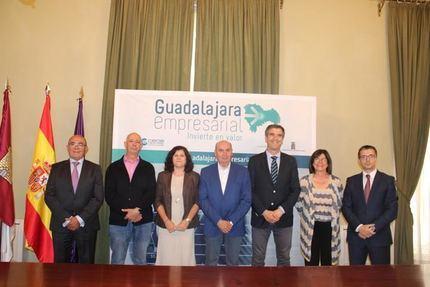 Diputación, Ayuntamiento y CEOE-Cepyme renuevan el proyecto 'Guadalajara Empresarial'