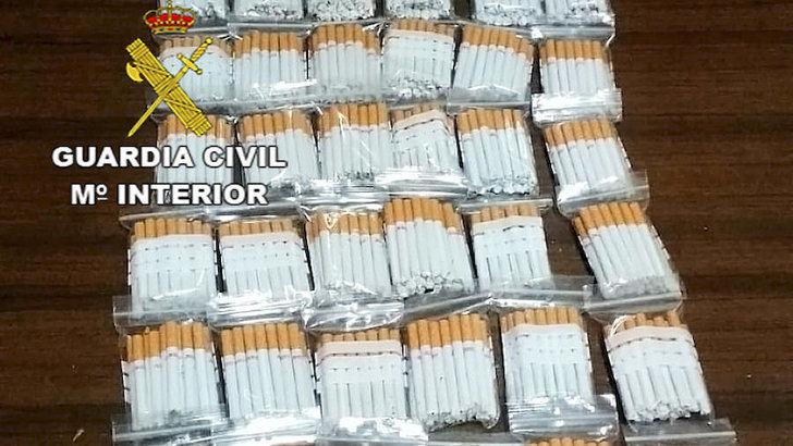 Incautadas 37 bolsas de cigarrillos en una inspección de contrabando en Ciudad Real