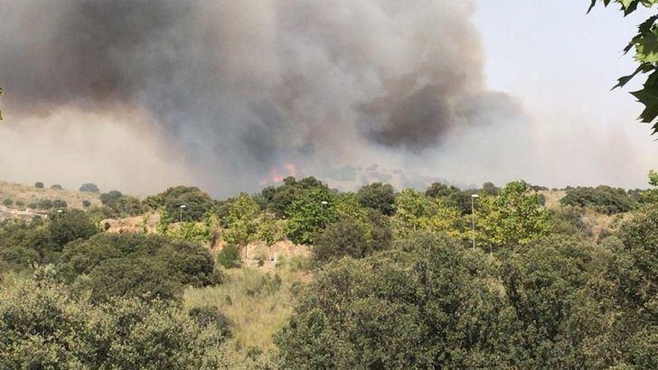 Extinguido el incendio forestal declarado el pasado miércoles en Tamajón