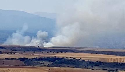 Incendio en la localidad guadalajareña de Jirueque