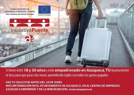 Ampliado el plazo en Azuqueca para solicitar las becas municipales con fondos FEDER, en países anglófonos