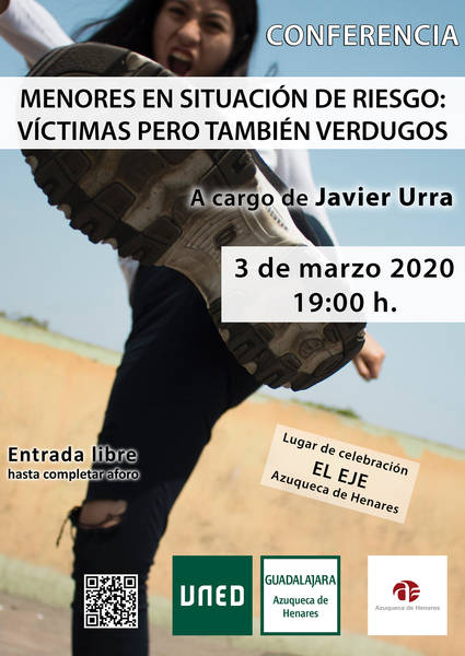 Javier Urra impartirá el 3 de marzo en el EJE de Azuqueca la conferencia 'Menores en situación de riesgo: Víctimas pero también verdugos'