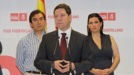 Joaquín Hermoso junto a Emiliano García-Page