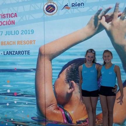 Alicia Sánchez García y Daniela Hernando Sanz, primeras alcarreñas en participar en un nacional