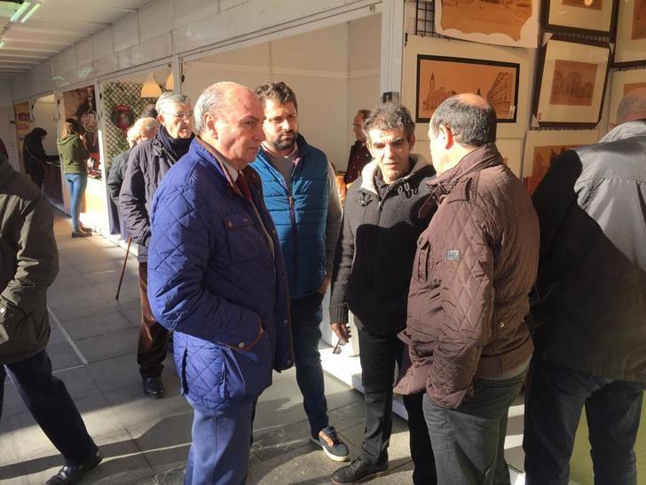 El presidente de la Diputación visita la Feria de Artesanía de Guadalajara