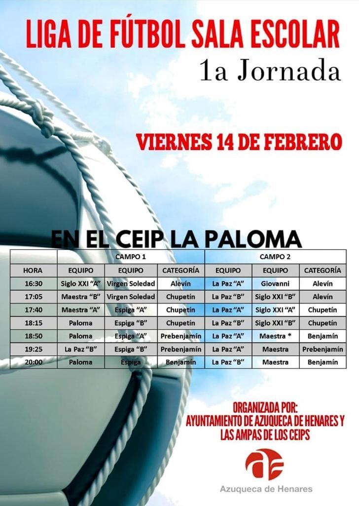 Empieza la Liga de Fútbol Sala Escolar en Azuqueca
