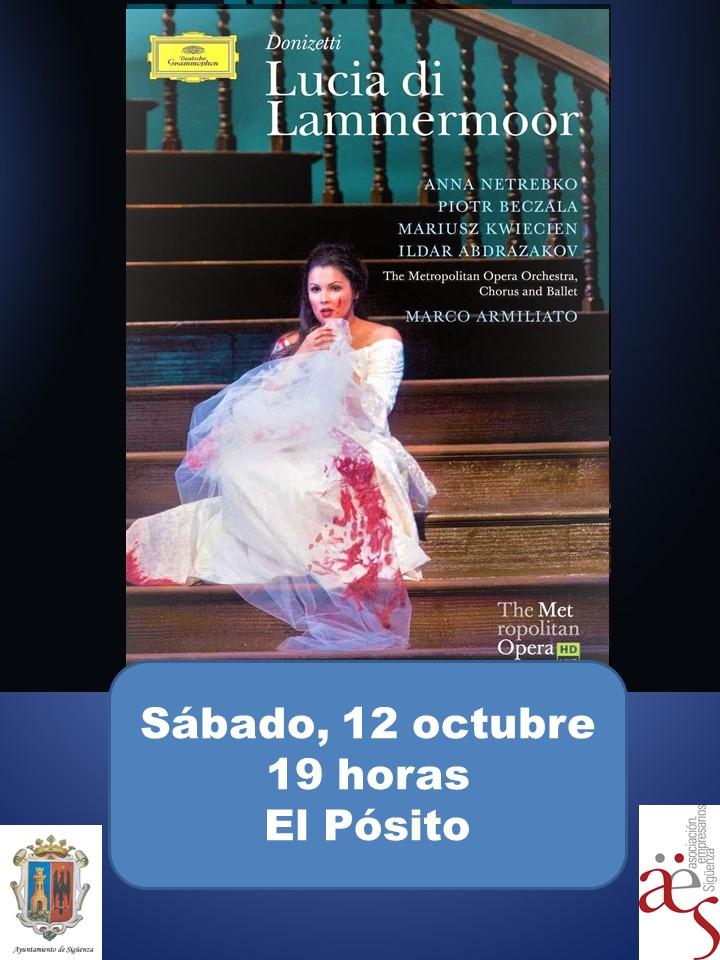 """Primera entrega de otoño de """"Vive la Opera"""" en Sigüenza"""