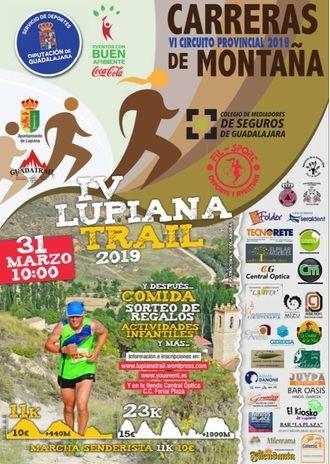 El domingo 31, IV Lupiana Trail, segunda prueba del Circuito de Carreras de Montaña 2019 de la Diputación de Guadalajara