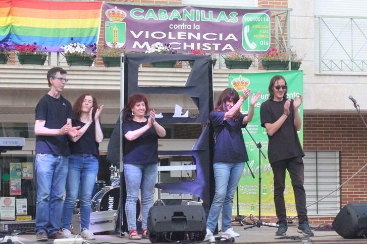 Teatro, poesía y rock feminista en la 2ª Marcha Violeta de Cabanillas del Campo