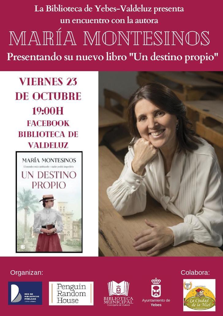 María Montesinos y su novela 'Un destino propio' estrenan la octava temporada de 'Encuentros con autor' de Yebes