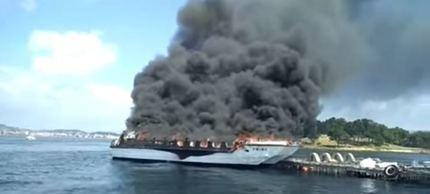 Un matrimonio de Guadalajara, con heridas muy graves tras el incendio de un catamarán en O Grove