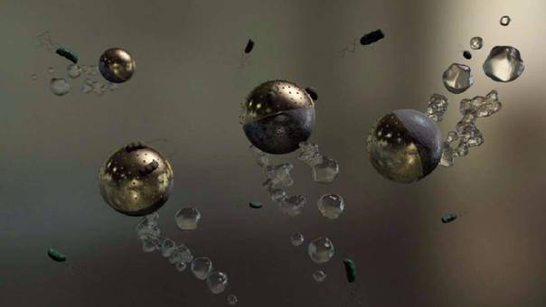 Diseñan microrobots que eliminan las bacterias contaminantes del agua