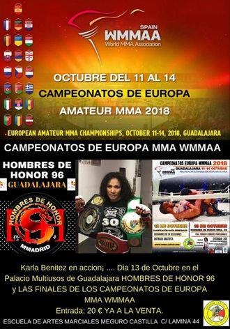 El Palacio Multiusos de Guadalajara acoge este fin de semana el Campeonato de Europa de MMA