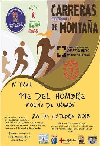 El domingo 28 de octubre, III Trail Pie del Hombre en Molina, penúltima prueba del Circuito que organiza Diputación de Guadalajara