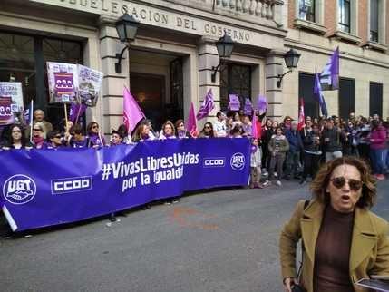 Más de 15.000 personas en CLM se unen a los paros y concentraciones de UGT y CCOO en el Día Internacional de la Mujer