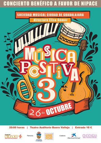 El teatro Buero Vallejo acogerá el 26 de octubre el concierto benéfico 'Música Positiva3' a favor de Nipace