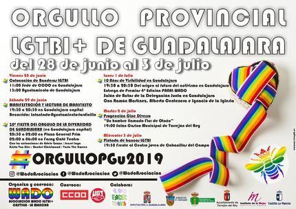 El Orgullo LGTBI en Guadalajara celebra su décimo aninversario en la provincia