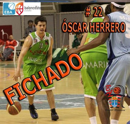 El base madrileño de 32 años y 1,82 metros Óscar Herrero, nuevo fichale del Isover Basket Azuqueca