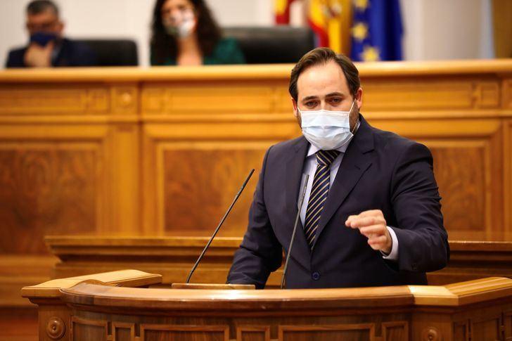 Núñez propone en las Cortes de CLM indemnizar a los autónomos, pymes y hosteleros que se han visto obligados a cerrar sus negocios como consecuencia de la pandemia