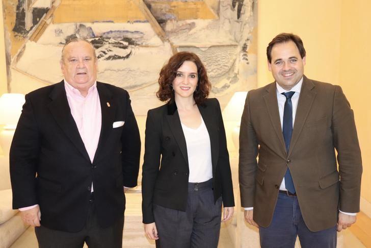 Paco Núñez traslada a Díaz Ayuso el problema de la carretera M-117 y trabajará junto a la presidenta madrileña en buscar una solución a la alta siniestralidad de la vía